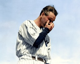See Lou Gehrig giving his farewell speech in color for the first time